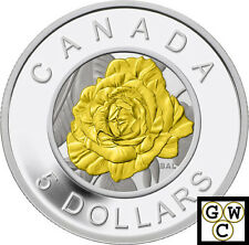 2014 Rose Flowers of Canada Proof $5 Silver Coin with Niobium insert (14046)