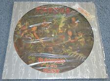 """EXODUS 1987  """" PLEASURES OF THE FLESH """"  LE # 08279/10000 LP PICTURE DISC"""