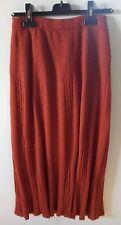 ensemble femme pull et jupe Maggy Maruani anti-mode couleur rouille parfait état