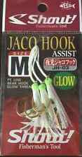 ASSIST JACO HOOK GLOW JH-03 SIZE M SHOUT PESCA AMI FISHING METAL JIG PE VERTICAL