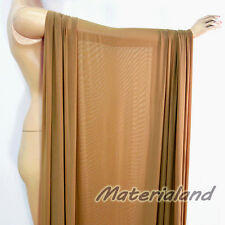 "160cm(63"") Width Tan (Dark Nude) Power 4 Way Stretch Spandex Mesh Net Fabric"