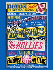 "The Hollies / Gerry Pacemakers Liverpool Odeon  16"" x 12"" Photo Repro Poster"