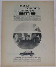 Advert Pubblicità 1963 CITROEN AMI 6