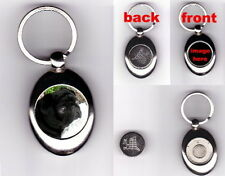BLACK PUG TROLLEY COIN TOKEN KEYRING - DOG ANIMAL PET LOVER GIFT