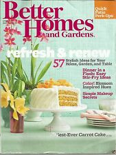 Better Homes and Gardens April 2013 Stir-Fry Ideas/Makeup Secrets/Vacations