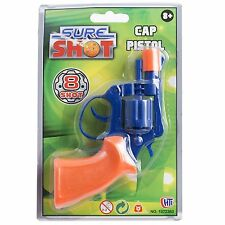 Sure Shot Cap Pistol Gun Toy Plastic Chamber Revolver Ring Caps Boys Game Shoot