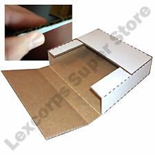 """LP Record Mailers 100 qty 12.5"""" x 12.5"""" Variable Depth Album Box Book Laser Disc"""