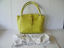 Furla Green Leather Tote Style Shoulder Bag Snap Closure Italy