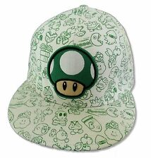 "SUPER MARIO ""MUSHROOM CHARACTERS"" BASEBALL HAT CAP NEW OFFICIAL NINTENDO"