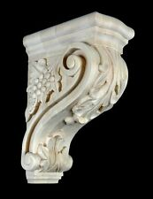 "13"" Maple Wood Bar Corbel Hand Carved Stain Grade"