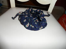 Vera Bradley jewelry pouch in retired navy pattern