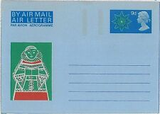 RELIGION  CHRISTMAS : GB -  POSTAL HISTORY-  AEROGRAMME AIRLETTER