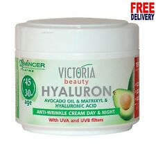 VB Hyaluronic Acid Matrixyl Avocado Oil anti wrinkle Day and Night Cream UBA UVB