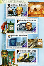 Guinea 2015 MNH Penny Black 175th Anniv 4v M/S Rowland Hill Stamps-on-Stamps