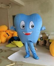 Mascot Costume Adult Size Dental Care Tooth Costume Facny Dress /blue