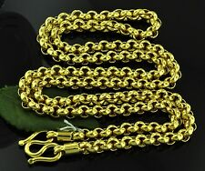 58.90 GRAMS 24K  YELLOW GOLD bullion 9999 CHAIN HANDMADE rolo NECKLACE 25 inches