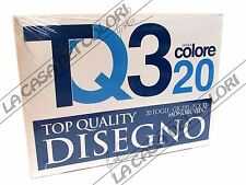 TOP QUALITY - TQ3 COLORE - 220 g/mq - 24x33cm - BLOCCO 20 FG COLORATI