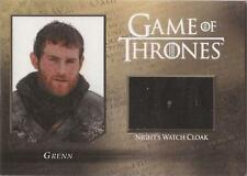 "Game of thrones saison 5-CC3 ""grenn"" night watch cloak relic card #217/250"
