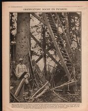 WWI Observatoire Bois d'Estrée Picardie Capitaine Guynemer  1916 ILLUSTRATION