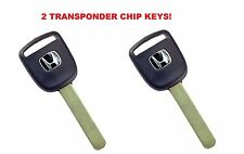 2 New Master Transponder Key 13 Chip Chipped Ignition Door Uncut For Honda Acura
