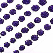 CB70P - 50 Self Adhesive Crystal Diamante Rhinestone Stick on Moon Rock Gems