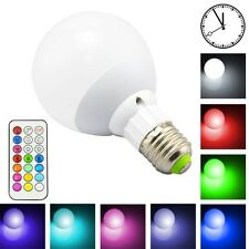 LED Light Bulb Multi Color cool White Dimmable Lamp with Remote Control E27 Room