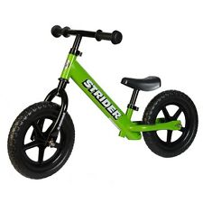 STRIDER 12 Classic Balance Bike Learn To Ride Bike No Pedals GREEN NEW