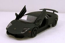 Set of 2 RMZ Lamborghini Murcielago LP 670-4 SV 1:36 model Matte Black R15
