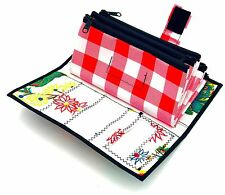 Cute Floral Red Checker Envelope System Wallet Cash Budgeting Dave Ramsey Budget