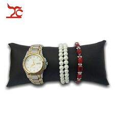 Jewelry Display Large Bracelet Watch Anklet Pillow Holder Black Faux Leather