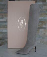 luxus Prada Stiefel Gr 40 boots Schuhe Shoes pomice 1W101F NEU UVP 1200 €
