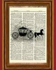 Disney Cinderella Dictionary Art Print Book Picture Poster Princess Carriage