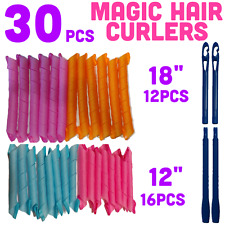 Magic Hair Curlers  30pcs Mixed Bundle + 2 Long Wands - Curlformers Spiral