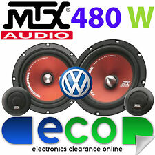 "VW Polo 1994 - 2000 MTX 6.5"" 480 Watts Component Kit Front Door Car Speakers"