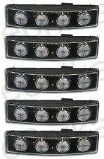 5X WHITE FRONT CLEAR LED VISOR DRL MARKER LIGHT LAMP CAB SCANIA TRUCK 24V