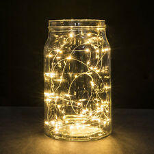 2M 20LED Button Battery Copper Wire String Lights Mini Fairy String Lights Decor
