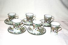 RARE JAPANESE HAND PAINTED CHOCOLATE SERVING SET FOR 5 PLUS EXTRA CUP