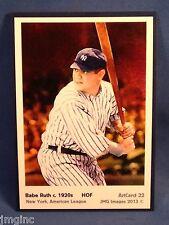 Babe Ruth, New York, ArtCard #22 - Baseball card of HOF player c.1920's