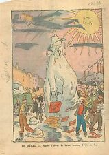 Caricature Politique Édouard Daladier Banque de France Chemin de Fer  WWII 1939