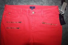 NYDJ Not Your Daughter Jeans Long Super Skinny Hibiscus Pink Size 12