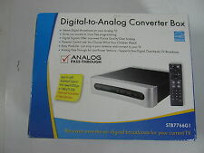 RCA STB7766G1 Digital to Analog TV Converter Box and Original Remote Tuner NIB
