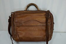 Avenues America Distressed Colombian Leather Briefcase Messenger Bag Satchel