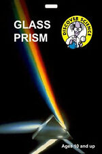 *NEW* Optical Glass Prism - demonstrates white light spectrum -  Isaac Newton