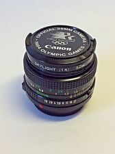 "CANON LENS FD 50mm 1:1.8 W/FRONT & BACK CAPS ""Near Mint"", w/Skylight 52mm Filter"