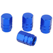 4Pcs Aluminum Car Wheel Tire Valves Tyre Stem Air Caps Airtight Cover Blue