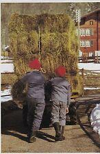 1977  --  SUISSE   RENTREE DES FOINS A LAUTERBRUNNEN   3E991