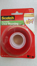 3M Scotch 4010 Permanent Clear Mounting Double Sided Tape Holds upto 2 lbs*SALES