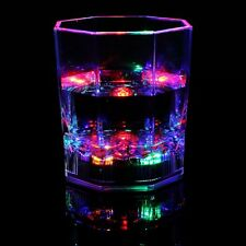 7 Color LED Flash Light Whisky Shot Drink Glass Cup Beer Bar Party Wedding Club