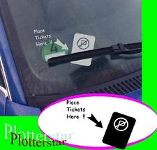Place ticket here sticker contravention autocollant shocker ticket support JDM