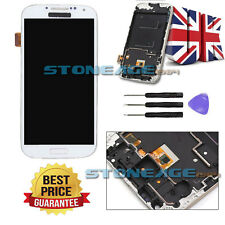 White For Samsung Galaxy S4 I9505 LCD Touch Screen Digitizer Replacement + Frame